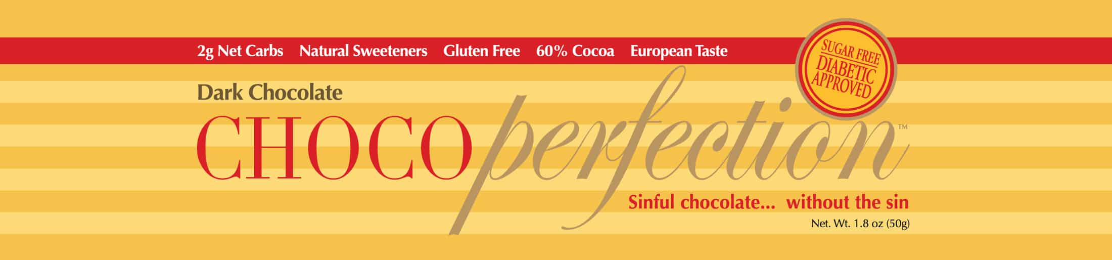 ChocoPerfection Logo and Chocolate Bar Label