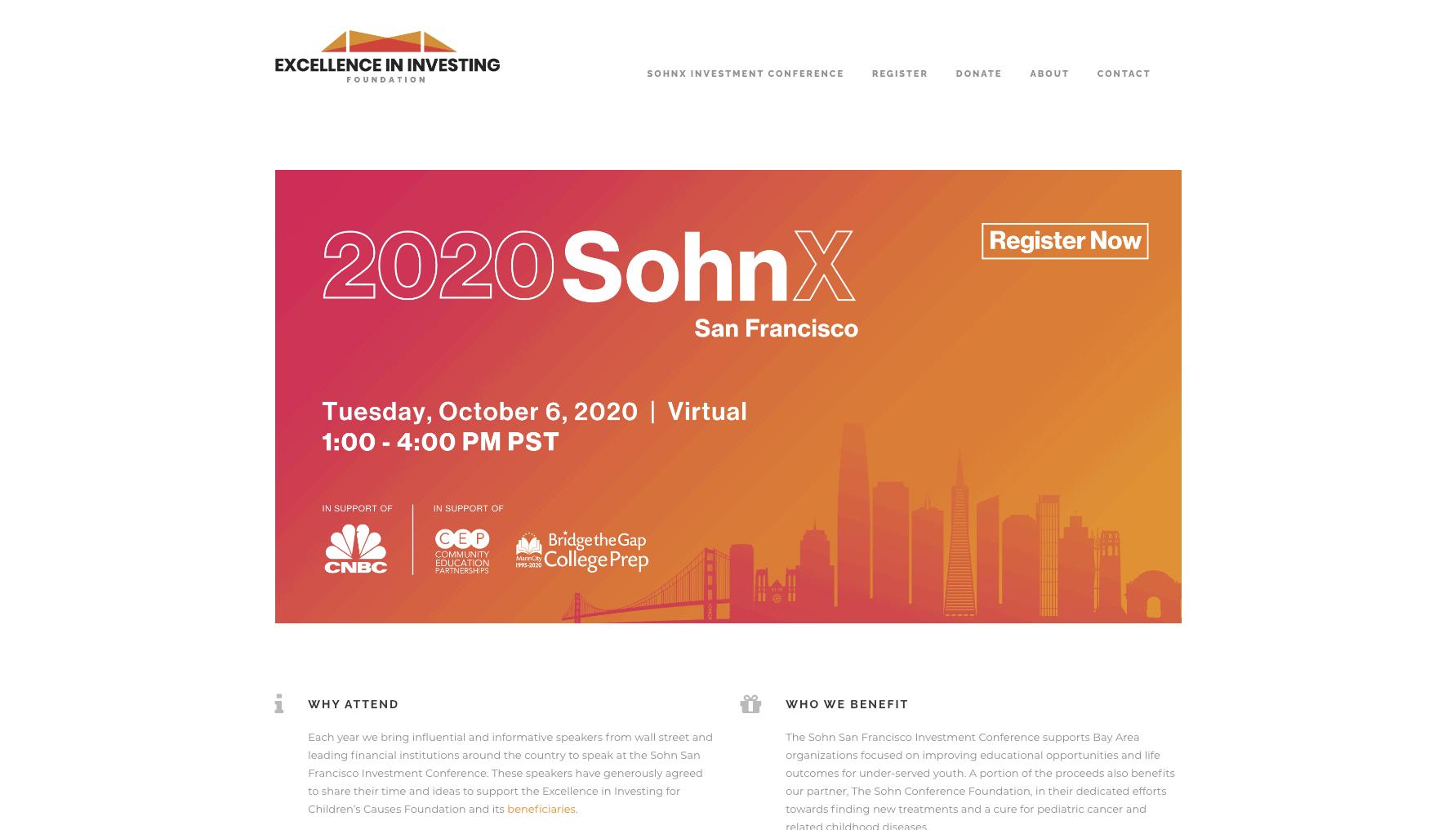 SohnX Conference