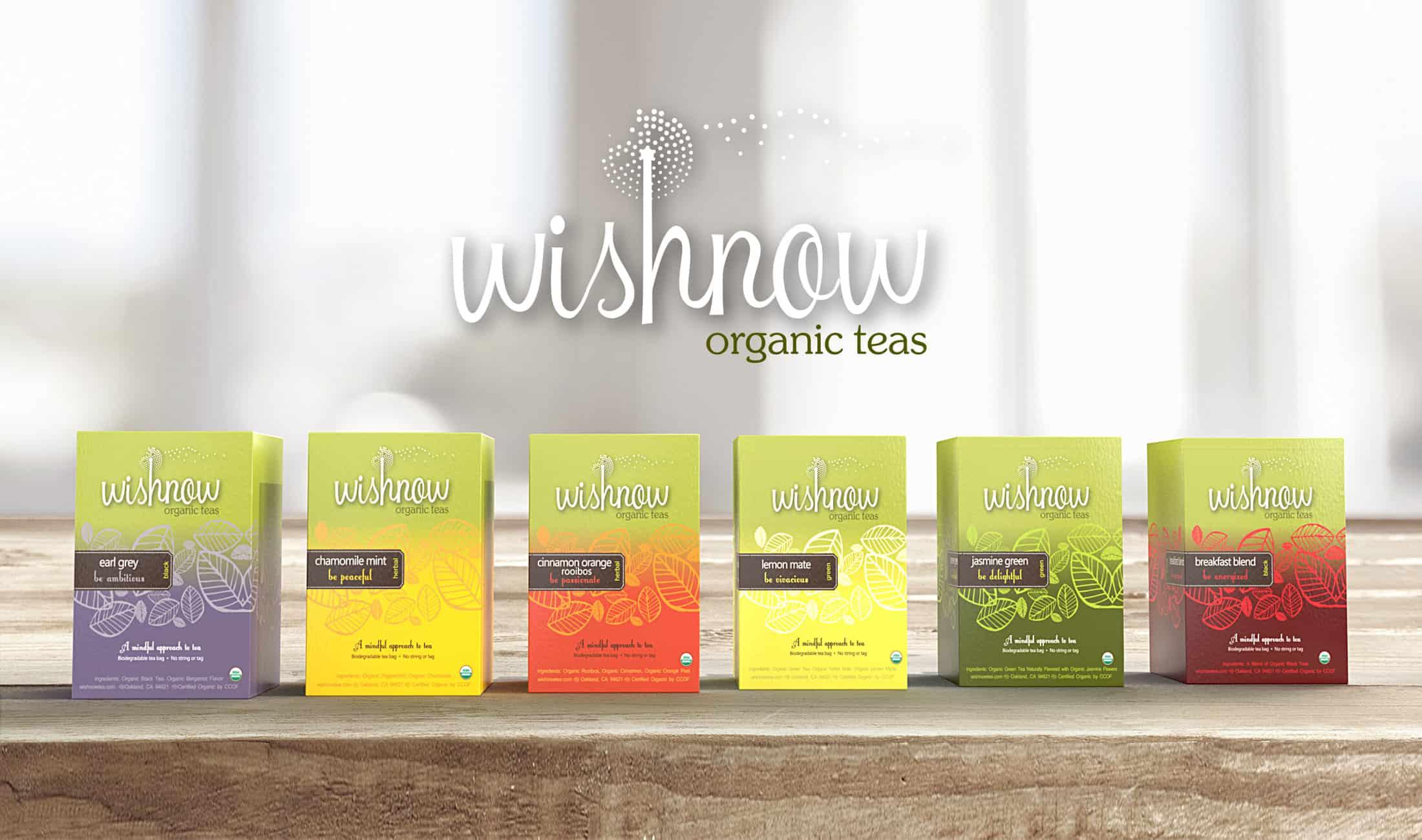 Wishnow Tea Packaging Six Flavors