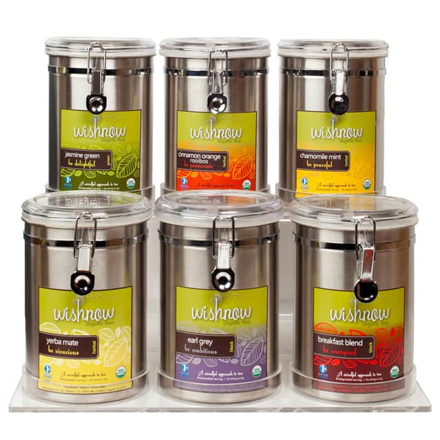 Wishnow Tea Branded Canisters